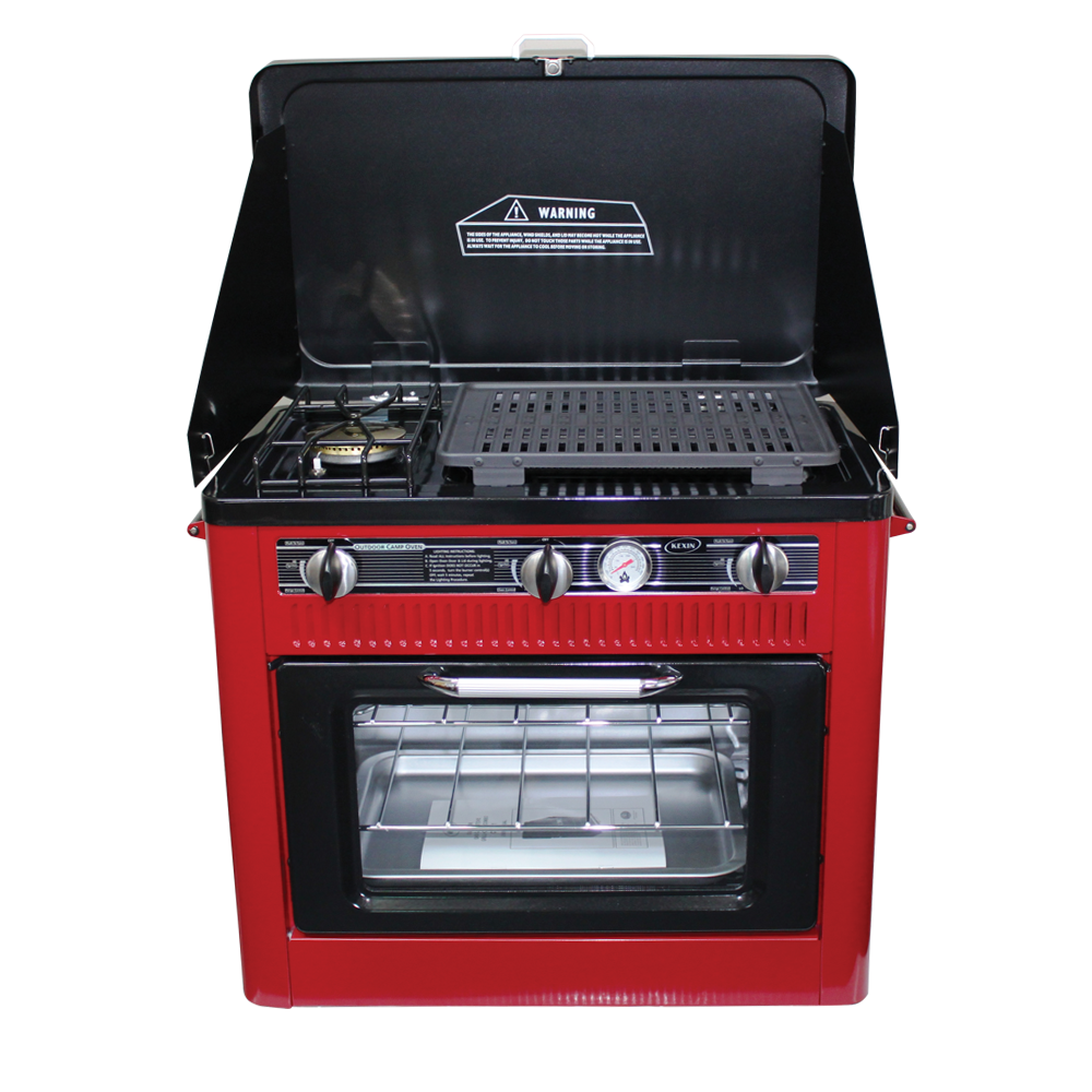 kexin camping gas stove oven combo 1 red world of gas. Black Bedroom Furniture Sets. Home Design Ideas